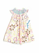 New Baby Girl Silly Goose Floral Smocked Easter Spring Dress Size 12 Months
