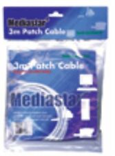 3M White Ethernet Patch Lead Cable RJ45 Cat5e Wire Network LAN Internet NEW HQ
