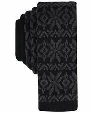 Bar III Mens Kerst Fairisle Knit Snowflake Print Neck Tie Black O/S