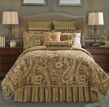 CROSCILL, ASHTON, KING COMFORTER 4 Pc BED SET, (w/2 Pillow Shams & Bedskirt) NEW