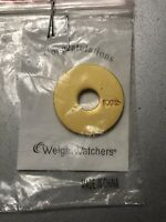 Weight Watchers 100lb Round Gold Medallion Charm NEW WW WEIGHT LOSS Celebration