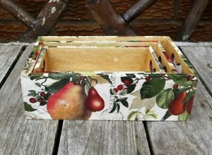 Shabby chic wooden boxes, trinket boxes, handmade, vintage floral, heart handles