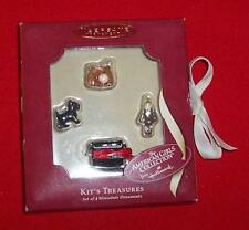 Hallmark 2003 KIT'S TREASURES AMERICAN GIRL Mini 4 Ornaments Dog Typewriter Doll