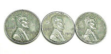 1943 P D S Lincoln Steel Wheat Cent Penny Set (3 Coins!)  SDS  **FREE SHIPPING**