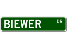 Biewer K9 Breed Pet Dog Lover Metal Street Sign - Aluminum