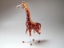 Craft MINIATURE HAND BLOWN GLASS Standing Giraffe FIGURINE Wildlife Inspired