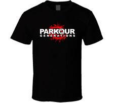PARKOUR Generations Movement shirt black white tshirt men's free shipping
