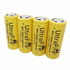 4PCS 26650 Batería 12800mAh 3.7V BRC Li-ion Rechargeable Battery for Flash Torch