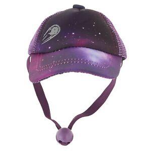 Purple Galaxy Dog Baseball Cap - LARGE - Neck Closure & Snapback - Top Paw - NWT