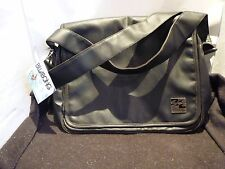 NEW BILLABONG SEIZURE SHOULDER SATCHEL BAG VINTAGE BLACK/BROWNWITH SILVER EMBLEM