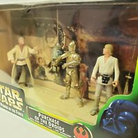 Star Wars POTF Purchase of the Droids Action Figure Set Skywalker C-3PO Kenner