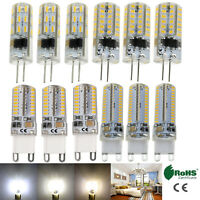 G9 LED Silicone Crystal Corn Bulb G4 Light 5W 6W 10W 3014 SMD White Lamp Bright