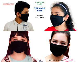 5X Children Kids Face Mask Washable Breathable Reusable Boys Girls Teenage lot