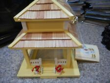 "Home Bazaar Birdhouse Bird Feeder New With Tag 11""H Nice Victorian Cottage Coll."