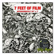 Hydrographic Film Wicked World Skulls Hydro Dipping 7 X 20 Hydro Dip