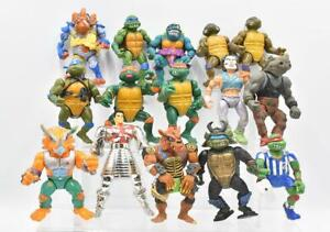 Lot of 15 Teenage Mutant Ninja Turtle Figures TMNT Playmates Vintage