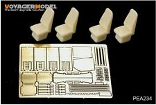 VOYAGER MODEL  PEA234 MODERN USMC HUMVEE HIGH BACK SEATS W/SEATS BELTS (4 PCS) (