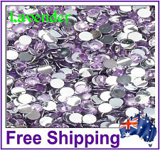 Rhinestones Resin FB 4mm ~ Lavender ~ 500 Pack By Gypsy Bling ~ Free Post