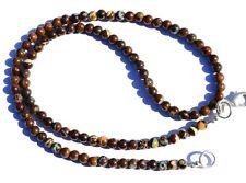 Natural Rare Gem Boulder Australian Opal 4.5MM Size Round Beads Necklace 17 Inch