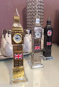 Glass Real Working Big Ben Clock Coloured Lights London Souvenir Ornament Gift