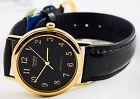 Casio MTP-1095Q-1B Leather Band Analog Watch Black Quartz Men's Smooth New