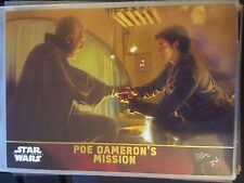 2015 Topps Star Wars The Force Awakens #62 Poe Dameron's Mission GOLD 029/100