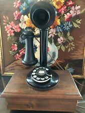Antique Western Electric(?)  Candlestick Telephone Restored with Ringer Box
