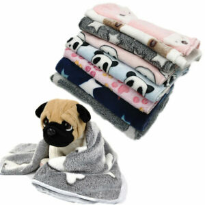 Soft Warm Coral Fleece Blanket Pet Puppy Dog Cat Sleeping Bed Sofa Pet Supplies