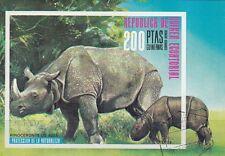 Guinea Ecuatorial No Bl. 239-Tank Rhino
