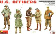 Ww Ii U.s. oficiales w/personal armas & Radio (zona de Europa) 1/35 Miniart