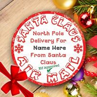24 Personalised Christmas Xmas Santa Party Bag Present Stickers Labels Gift Tags