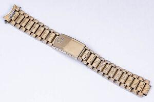 Vintage Omega Gold Plated Bracelet Ref. 1069 No. 12 with 19 mm End out of Estate