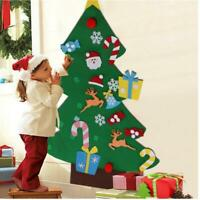 Children DIY Puzzle Felt Christmas Tree With Ornaments Xmas Gift Xmas Decor