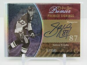 SIDNEY CROSBY 2009-10 O-PEE-CHEE PREMIER SIGNINGS AUTOGRAPH AUTO #17/50 PENGUINS
