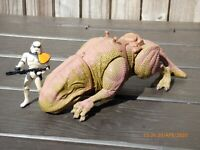 Vintage 1997 Kenner Star Wars Dewback Creature Tatooine Sand Trooper Figure Toy