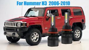 LED For Hummer H3 2006-2010 Headlight Kit H13 6000K White CREE Bulbs Hi-Low Beam
