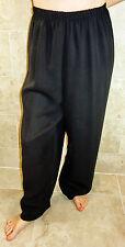 MIDNIGHT FASHION ELEGANT STYLISH PLUS SIZE BLACK CHIFFON OVERLAY DRESS SLACKS 20