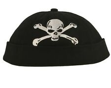 Chillouts Cap Coco Cap Biker Cap ohne Schirm großes Totenkopfmotiv black one siz
