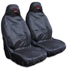 Mitsubishi L200 Mk7 15-On Heavy Duty Black Waterproof Car Seat Covers - x 2