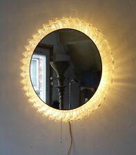 schöninger retro vintage illuminated wall mirror lucite plexi ice glass