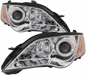 Subaru Legacy NEW Pair Set for 2008, 2009 Headlights Headlamps Assembly w/Bulb