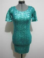 Short Regular Dresses for Women with Sequins