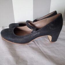 "Ecco Mary Jane Black Size 41 Heel 2.5""   k"