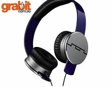 Sol Republic Tracks HD Purple On-Ear headphones- 3-Button Mic + Music Control