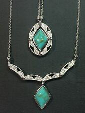 Patented Convertible 2 in 1 Changeable Turquoise Pendant Necklace