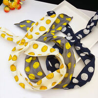 GI- Rabbit Ears Headband Flower Dots Fruit Women Hair Band Scarf Accessory