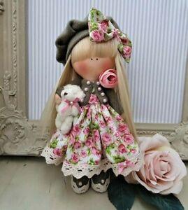 Rag doll handmade in the UK Tilda doll Ooak doll Art doll LACEY 8 inch tall