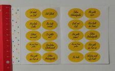 Aufkleber/Sticker: Deutsche Post Marken-Set 20 Gruß-Sticker (25021712)