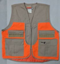 WINCHESTER Men's TRAP SKEET SHOOTING HUNTING VEST Khaki/Orange FULL ZIP XL