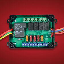 Electronically Isolated Motorcycle Accessory Fuse Block w/ 12v Circuit Breakers